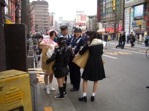 Cosplayers in Akihabara