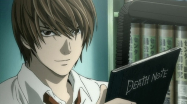 Image of Light Yagami in the Death Note anime